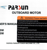 Yamaha/Parsun outboard F6ABM/F5ABM Owner's manual