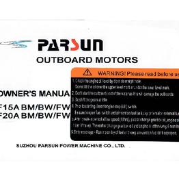 Yamaha/parsun buitenboord F15A/F20A BM/BW/FW gebruikershandleiding