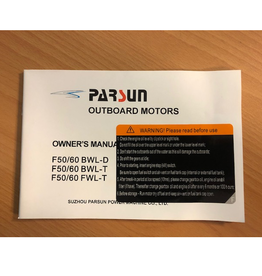 Yamaha/parsun buitenboord F50/60 BWL-D/BWL-T/FWL-T gebruikershandleiding
