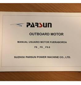 Yamaha/ Parsun buitenboord F6/F8/F9.8 Gebruikershandleiding Spaans