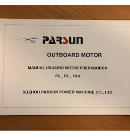 Yamaha/ Parsun outboard F6/F8/F9.8  Owner's manual Spanish