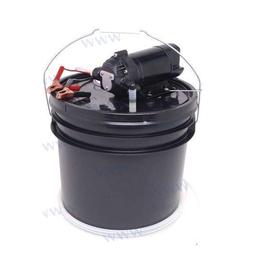 SHURflow Elec.pump + 13 L portable bucket + Reversible pump kit for changing oil