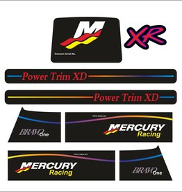 Mercury MerCruiser racing xr Sticker set