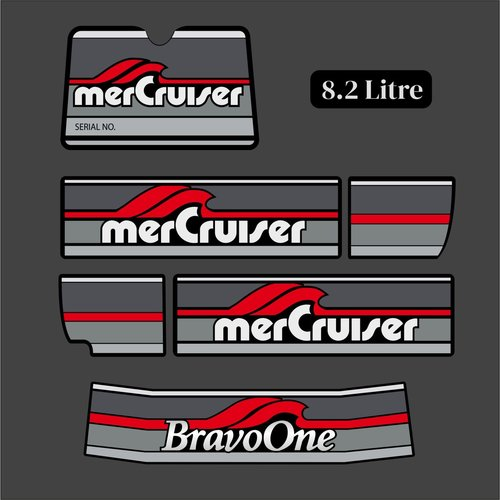 Mercury MerCruiser Sticker Set