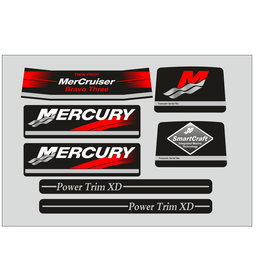 Mercury MerCruiser Bravo three duo prop Sticker set