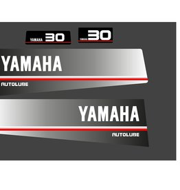 Yamaha 30 autolube year range 1986 to 1991 Sticker set