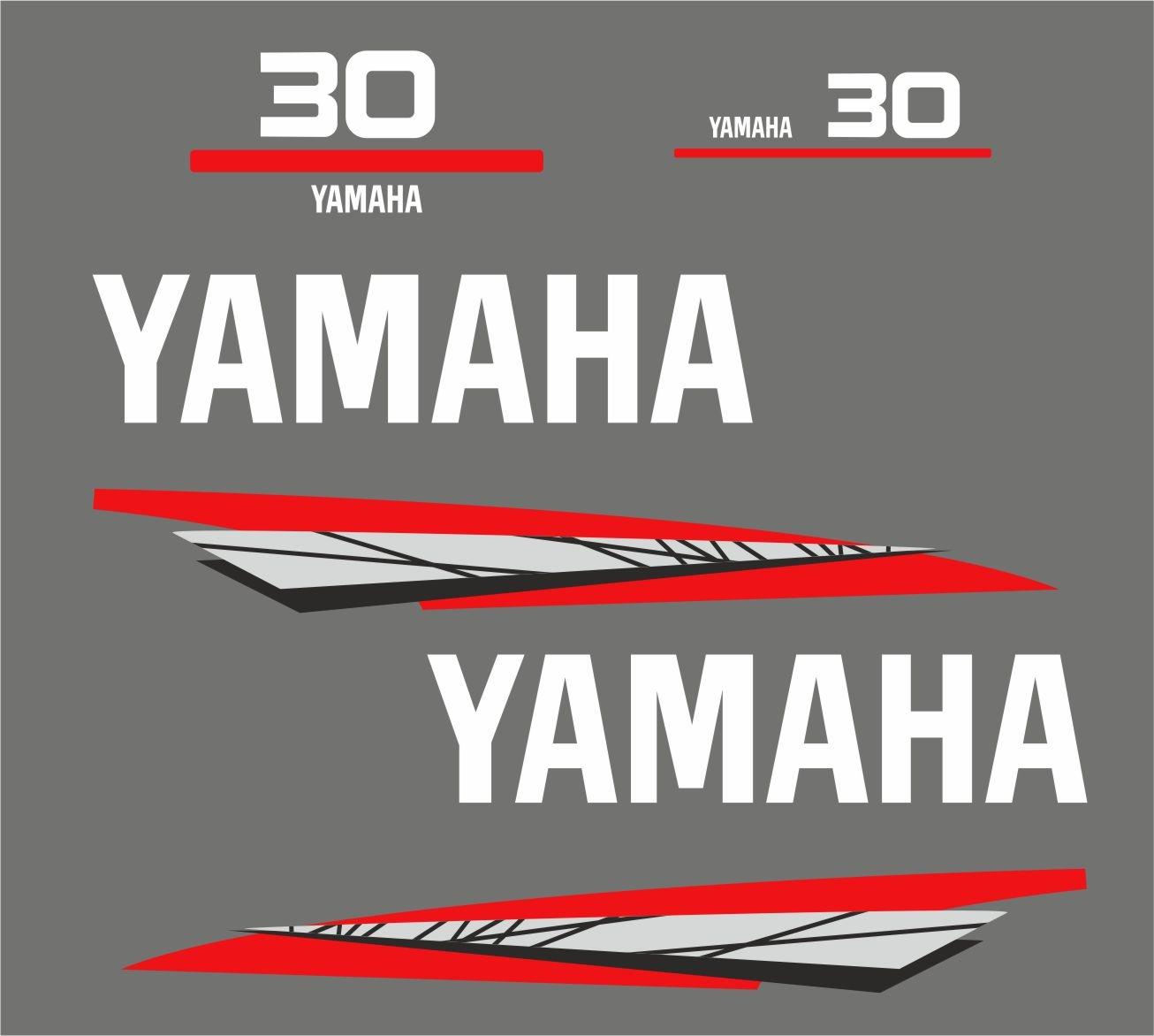 Yamaha 30 bouwjaar 1998 – 2004 Sticker set Grijs