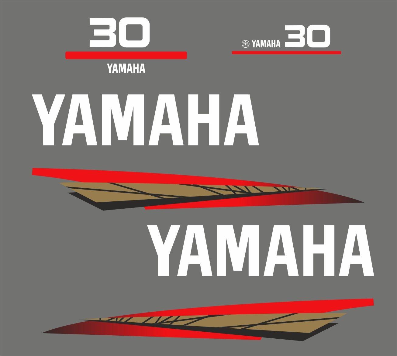 Yamaha 30 bouwjaar 1998 – 2004 Sticker set Goud