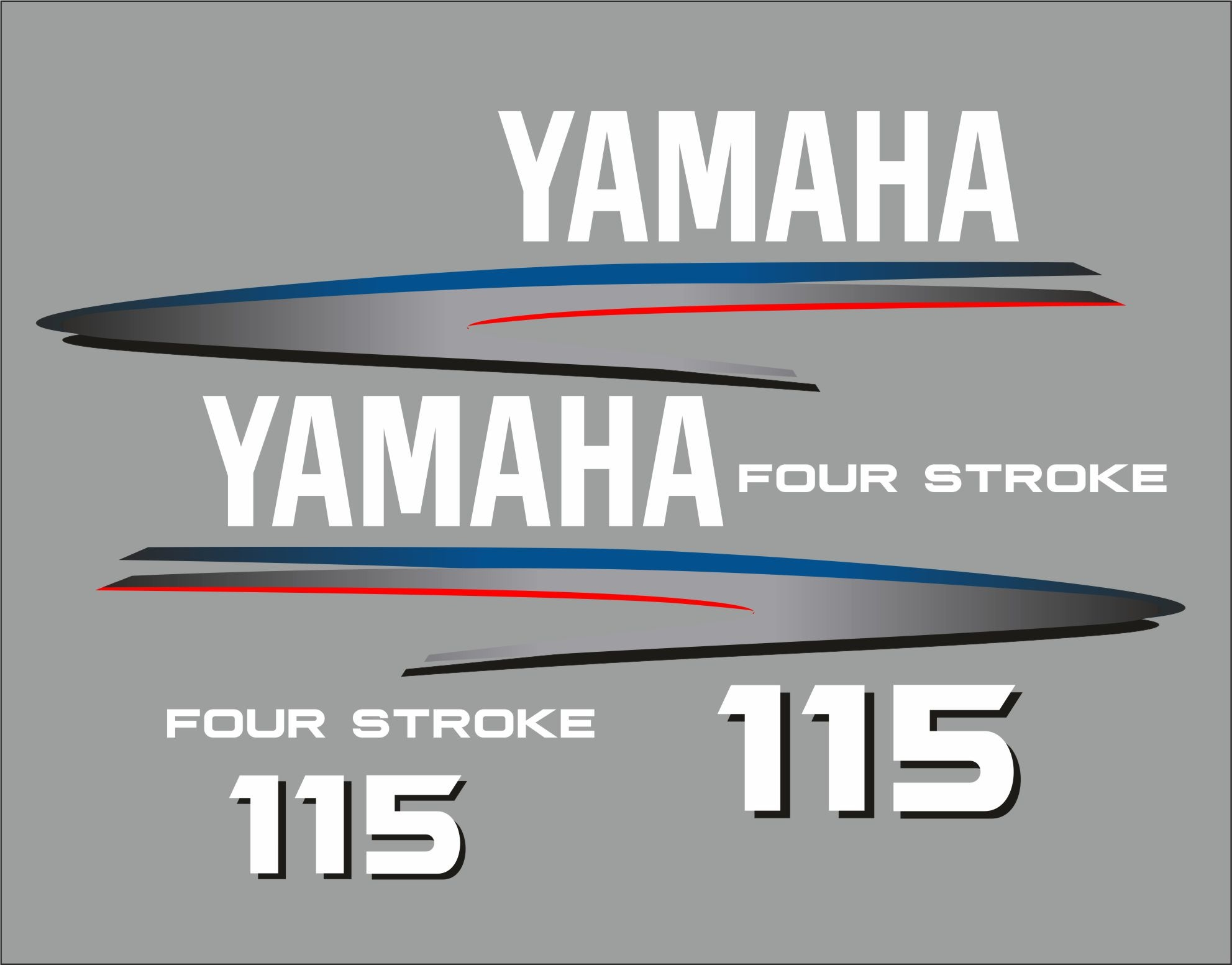 Yamaha buitenboordmotor 115 pk 4-takt sticker set