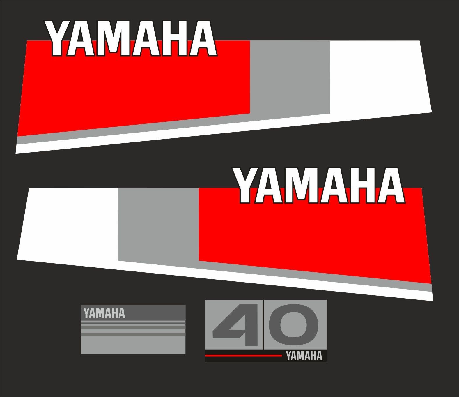 Yamaha 40 bouwjaar 1984 – 1987 Sticker set