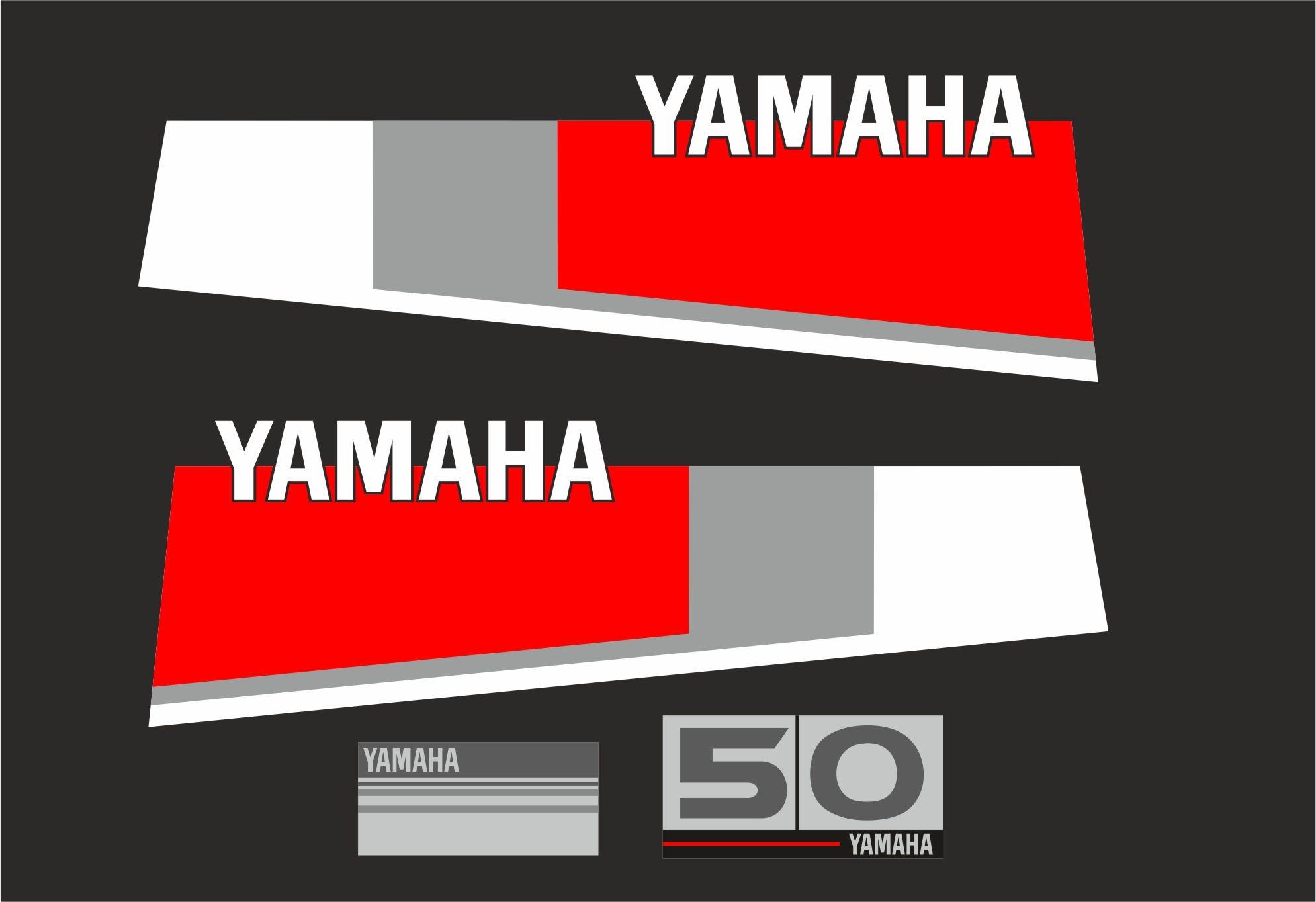 Yamaha 50 bouwjaar 1984 – 1987 Sticker set