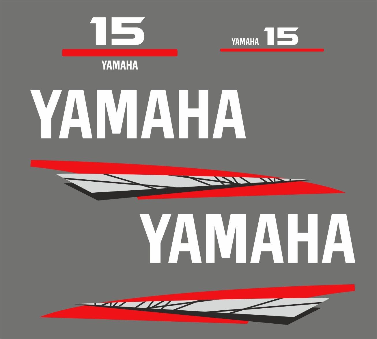Yamaha 15 bouwjaar 1998 – 2004 Sticker set Grijs