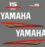 Yamaha 15 bouwjaar 1998 – 2004 Sticker set Goud