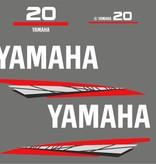 Yamaha 20 bouwjaar 1998 – 2004 Sticker set Grijs