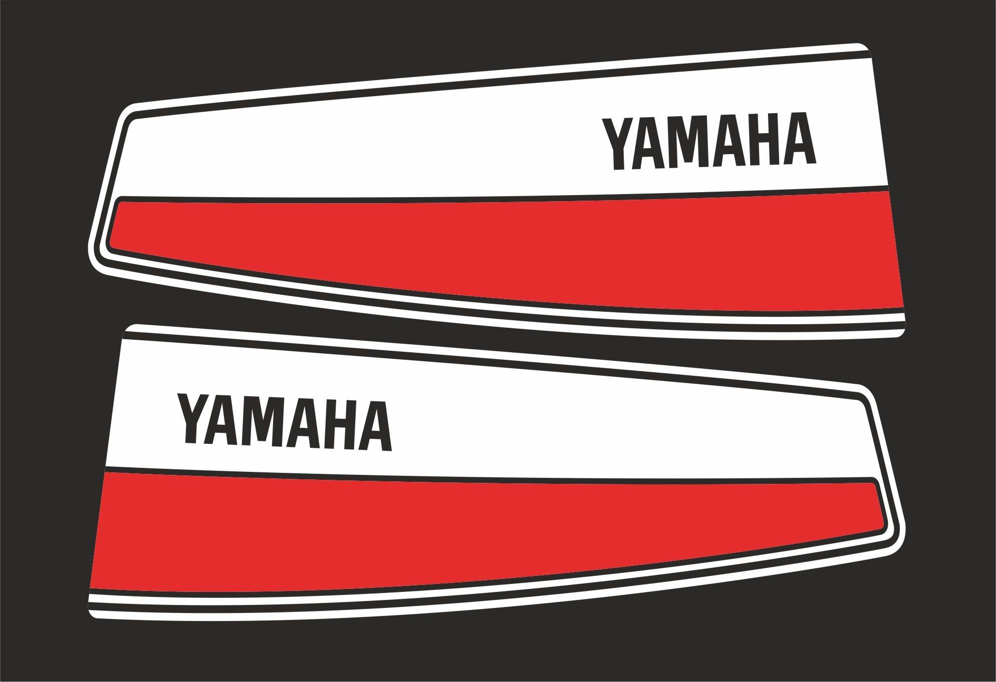Yamaha 20a bouwjaar voor 1983  Sticker set