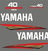 Yamaha 40 bouwjaar 1998 – 2004 Sticker set Goud