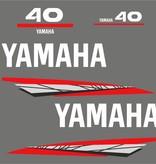 Yamaha 40 bouwjaar 1998 – 2004 Sticker set Grijs