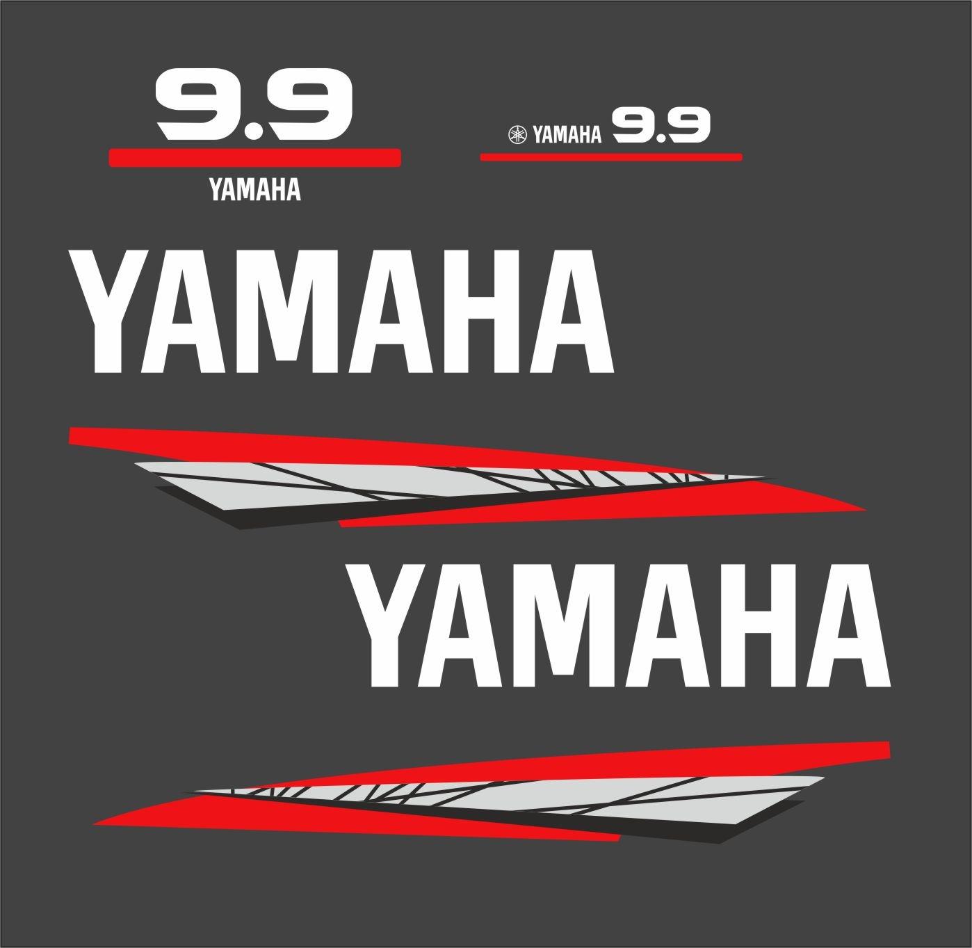 Yamaha 9.9 bouwjaar 1998 – 2004 Sticker set Grijs