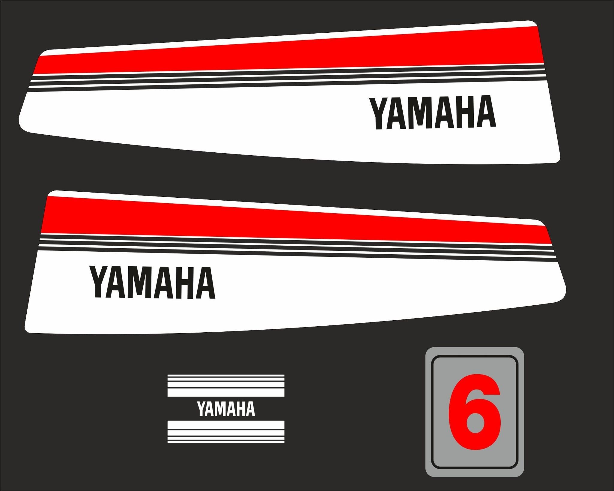 Yamaha 6 bouwjaar 1983- 1988 Sticker set