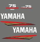Yamaha 75 bouwjaar 1998 – 2004 Sticker set Goud