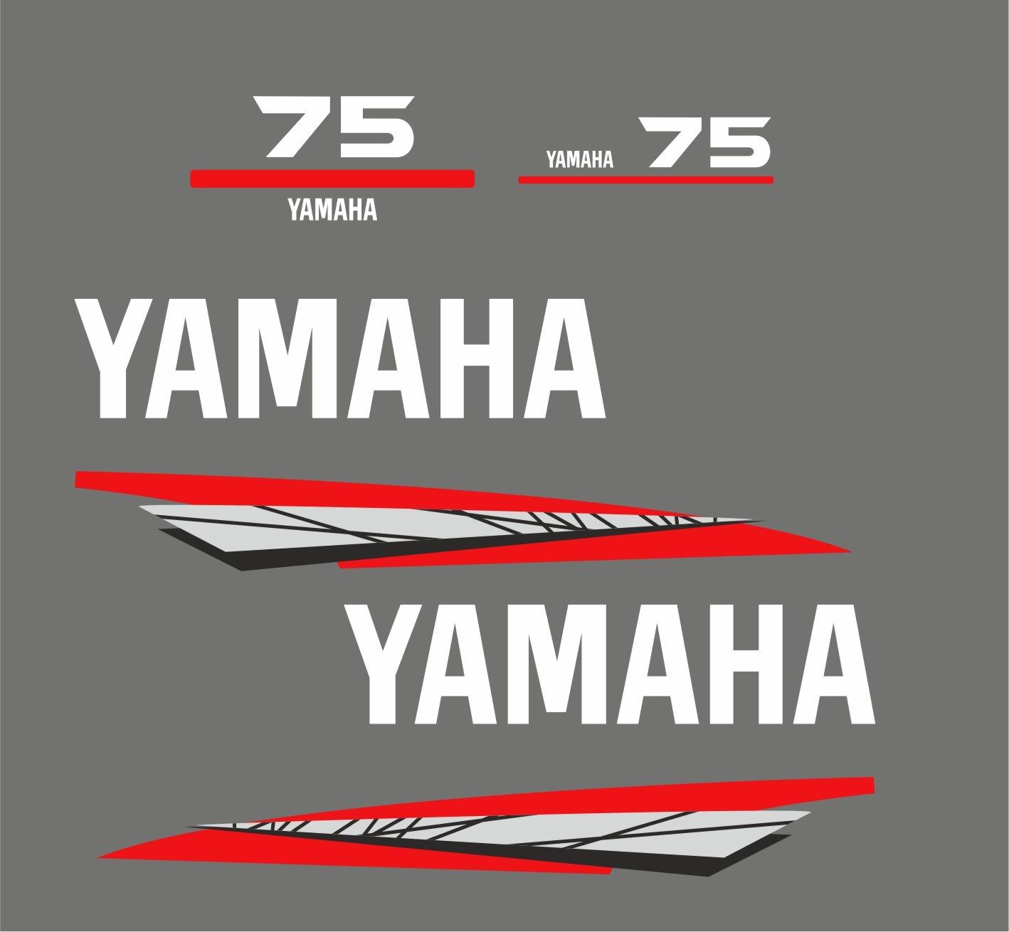 Yamaha 75 bouwjaar 1998 – 2004 Sticker set Grijs