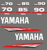 Yamaha 70, 85 of 90 PK  bouwjaar 1998 – 2004 Sticker set Grijs of Goud