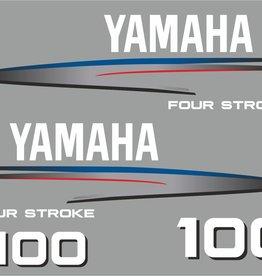 Yamaha 100  HP year range 2002-2006 Sticker set