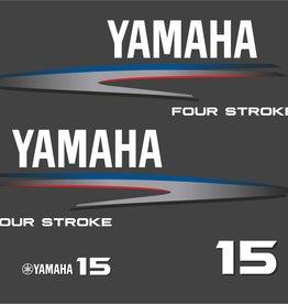 Yamaha 15  HP year range 2002-2006 Sticker set