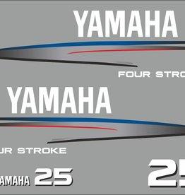 Yamaha 25 PK bouwjaar 2002-2006 Sticker set
