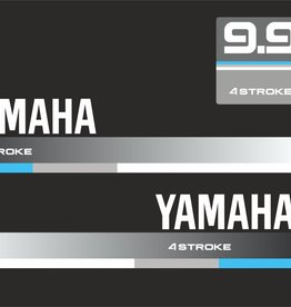 Yamaha 9.9 HP year range 1990  Sticker set