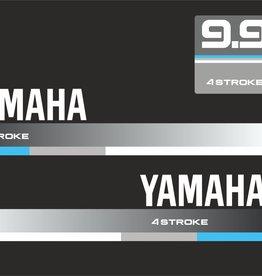 Yamaha 9.9 PK bouwjaar 1990 Sticker set