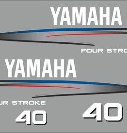 Yamaha 40 HP year range 2002-2006 Sticker set