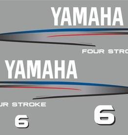 Yamaha 6 PK bouwjaar 2002-2006 Sticker set