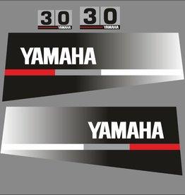 Yamaha 30 year range 1986 to 1991 Sticker set