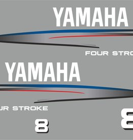 Yamaha 8 PK bouwjaar 2002-2006 Sticker set