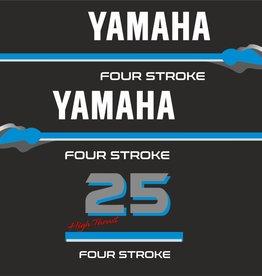 Yamaha 25 HP 4 Stroke  Sticker set