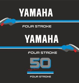 Yamaha 50 HP 4 Stroke  Sticker set