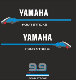 Yamaha 9.9 HP 4 Stroke  Sticker set