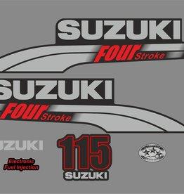 Suzuki 115 PK  bouwjaar 2003-2009 sticker set