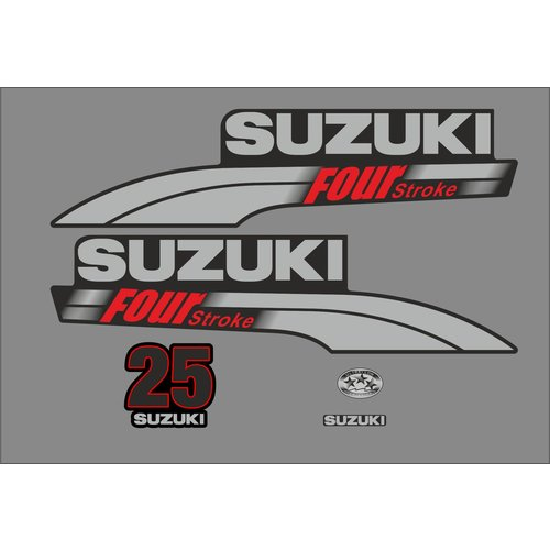 Suzuki Buitenboordmotor Sticker set