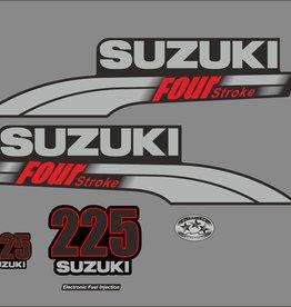 Suzuki 225 HP year range 2003-2009 sticker set