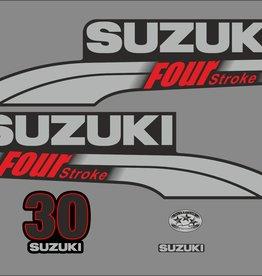 Suzuki 30 PK  bouwjaar 2003-2009 sticker set