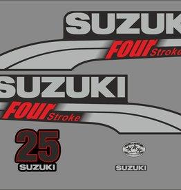 Suzuki 25 PK  bouwjaar 2003-2009 sticker set