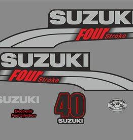 Suzuki 40 PK  bouwjaar 2003-2009 sticker set