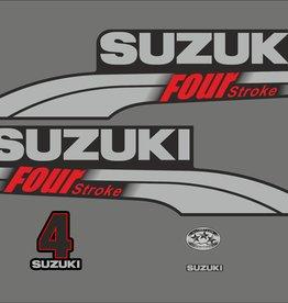 Suzuki 4 PK  bouwjaar 2003-2009 sticker set