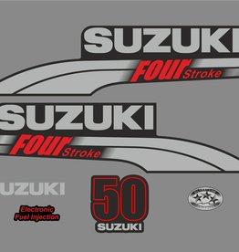 Suzuki 50 HP year range 2003-2009 sticker set