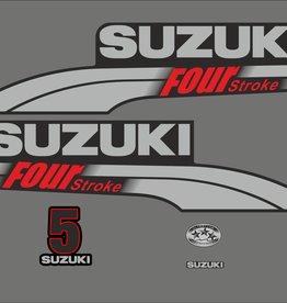 Suzuki 5 HP year range 2003-2009 sticker set