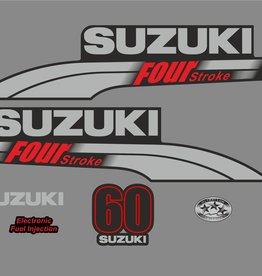 Suzuki 60 PK  bouwjaar 2003-2009 sticker set