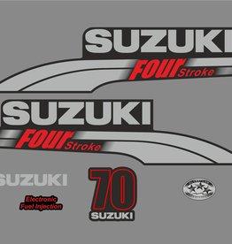 Suzuki 70 PK  bouwjaar 2003-2009 sticker set