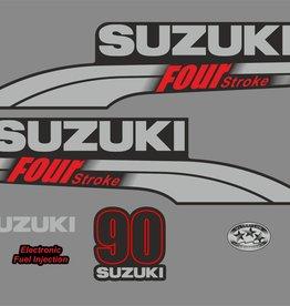 Suzuki 90 PK  bouwjaar 2003-2009 sticker set